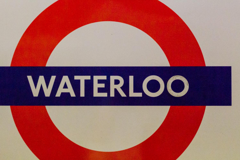 Waterloo tube sign