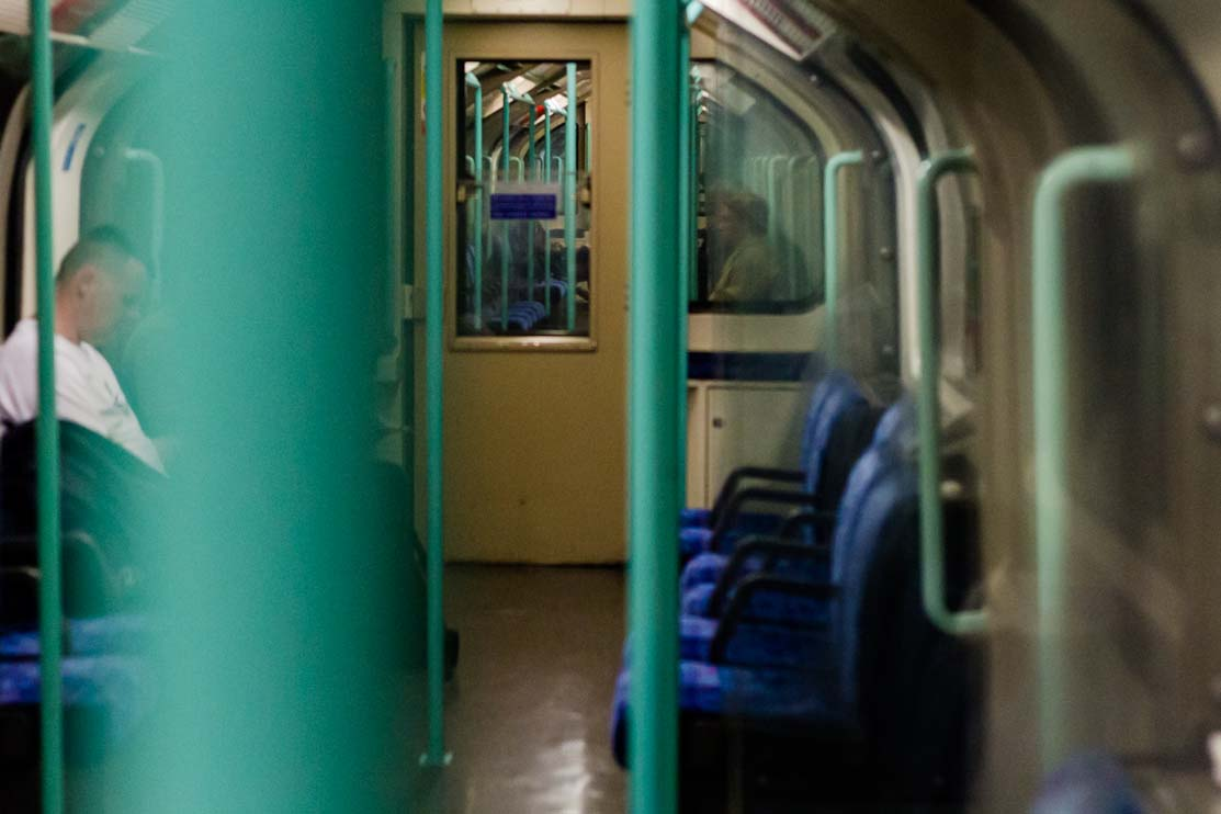 tube, empty, green rail