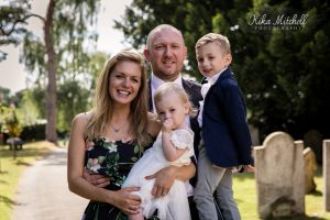 family photography Baptism church