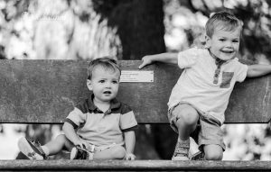BROTHERS HAVING FUN ON FAMILY SHOOT CHELMSFORD