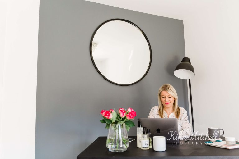 Beauty Box Productions Laura by grey wall by Chelmsford Photographer on Your personal branding shoot blog and my style page