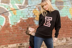 essex mama and her son on grafitti wall captured by Kika Mitchell Photography on her personal branding shoot