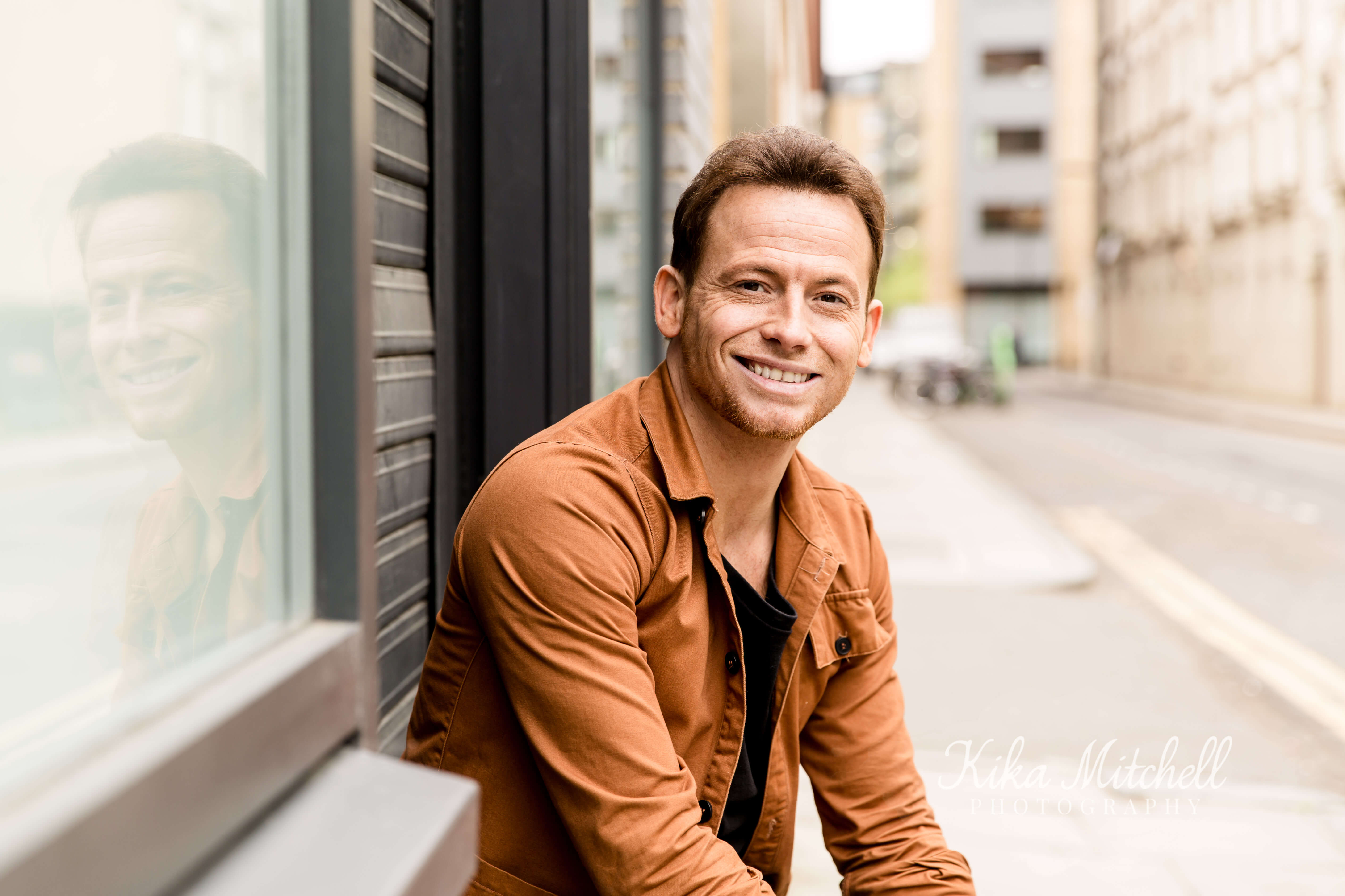 Your Personal Branding shoot by Chelmsford Photographer Kika MItchell Photography image of Joe Swash TV presenter in london street