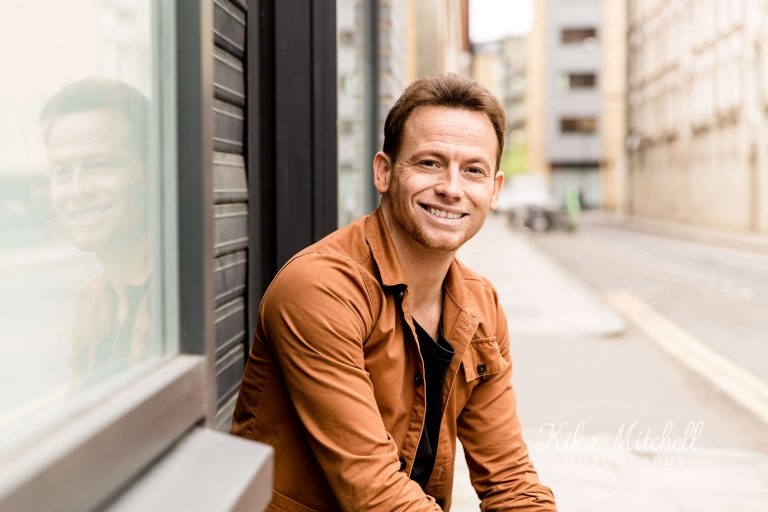 Television presenter Joe Swash photographed by Kika Mitchell Photography on personal branding shoot by Kika Mitchell Photography