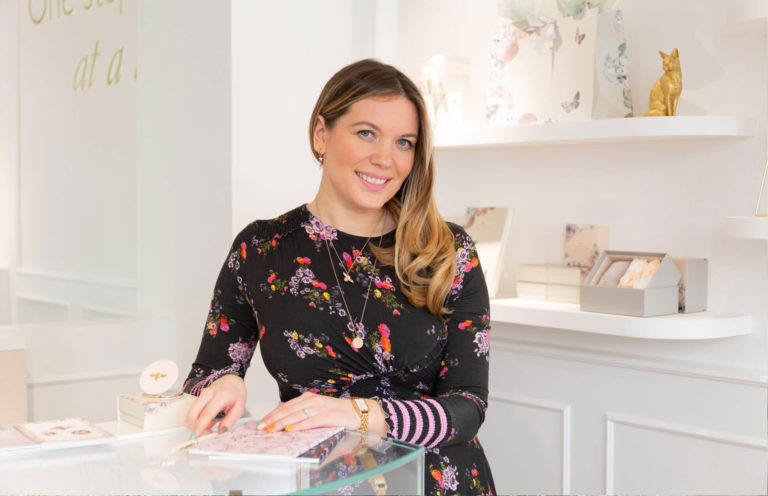 Gemma Fennings co- founder of amazing global jewellery brand Olivia Burton in Covent Garden Store photographed by Kika Mitchell Photography