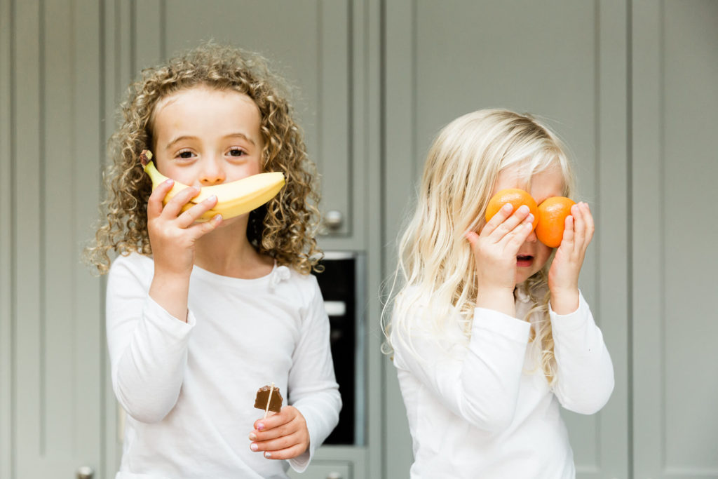 banana mouth and orange eyes captured by fun loving Kika Mitchell Photography