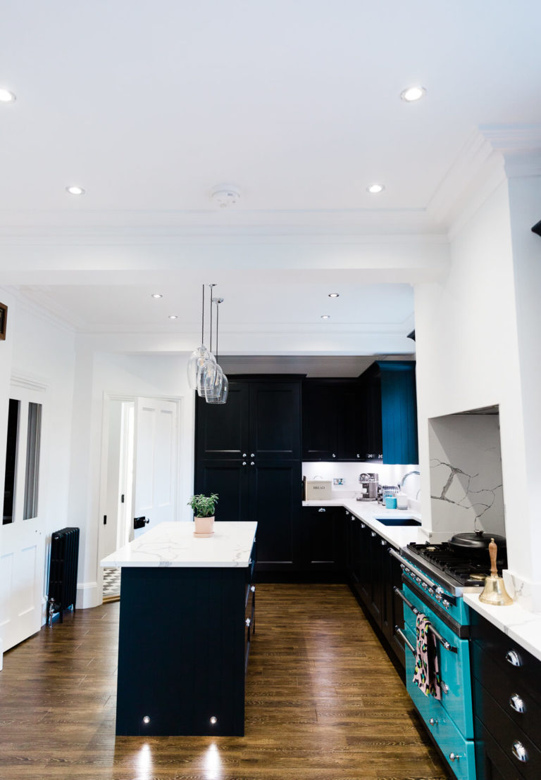 portrait image of stunning Chelmsford kitchen by Kika Mitchell in Our dream kitchen blog