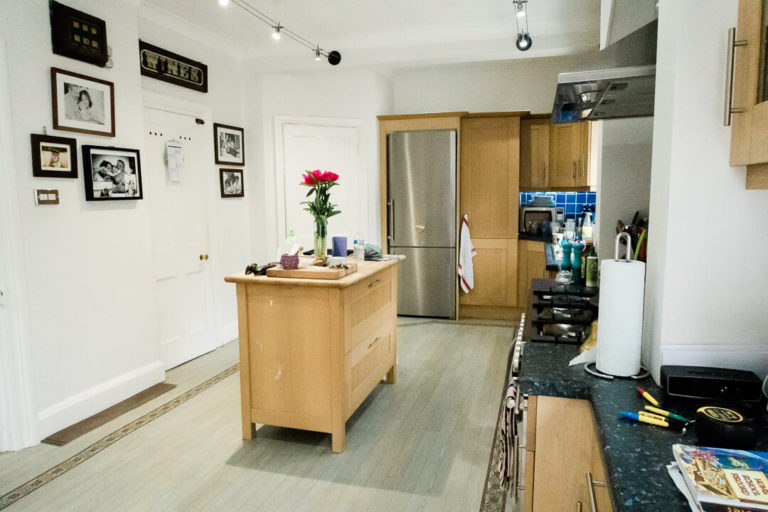 Dream Kitchen wide shot before kitchen renovation by Chelmsford photographer Kika Mitchell Photography