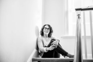 black and white shot of Chelmsford photographer Kika Mitchell Photography for her personal branding gallery