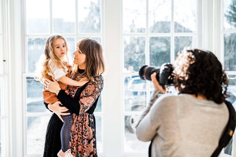 Behind the scenes with Chelmsford photographer Kika Mitchell Photography on personal branding shoot