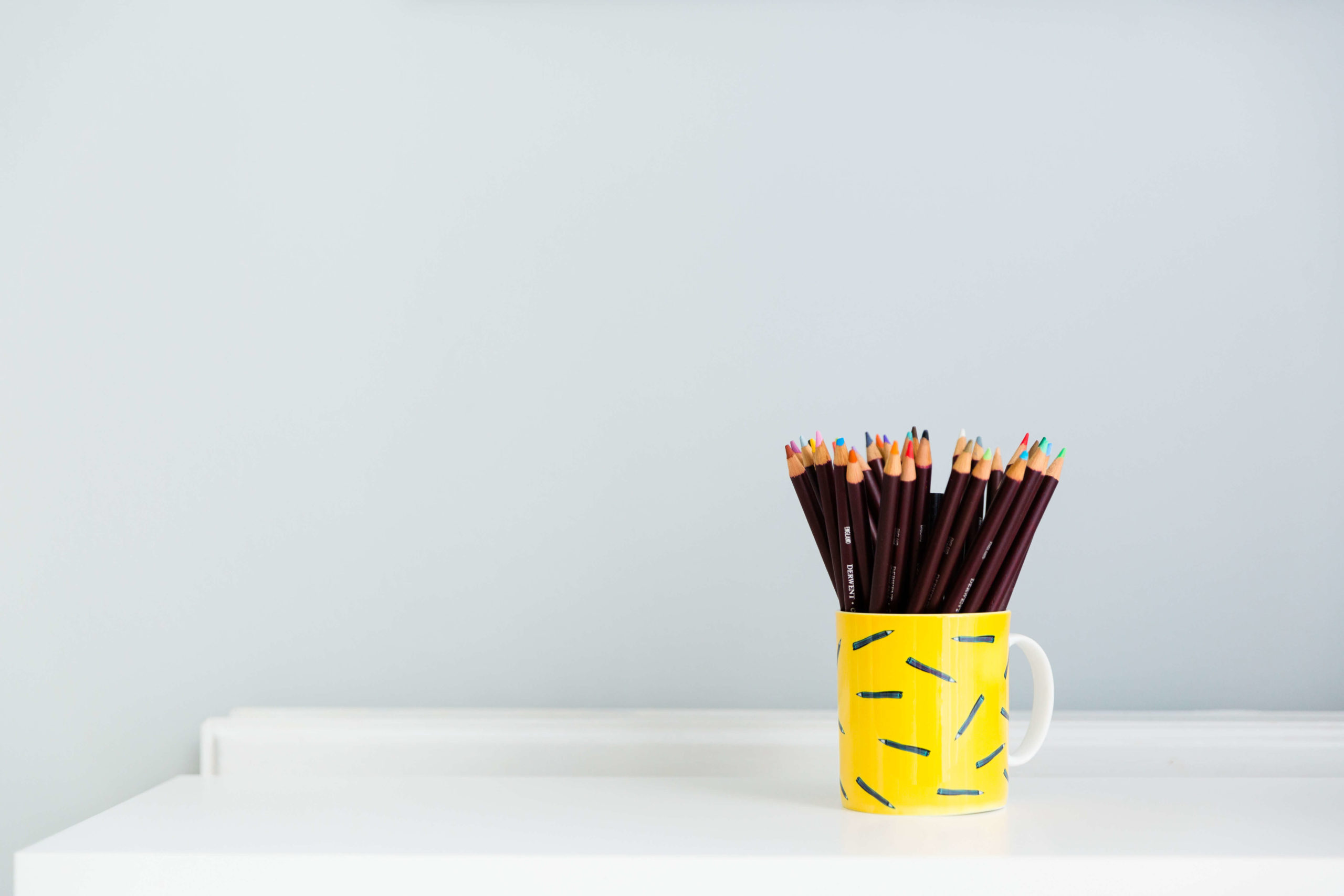 pot of colourful pencils by Personal branding photographer Kika mItchell Photography based in Chelmsford Essex