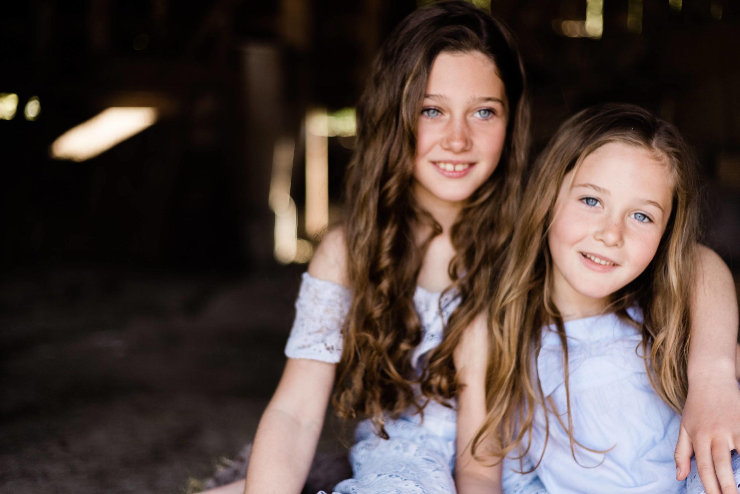 off centre portrait of sisterhood by Chelmsford photographer Kika Mitchell